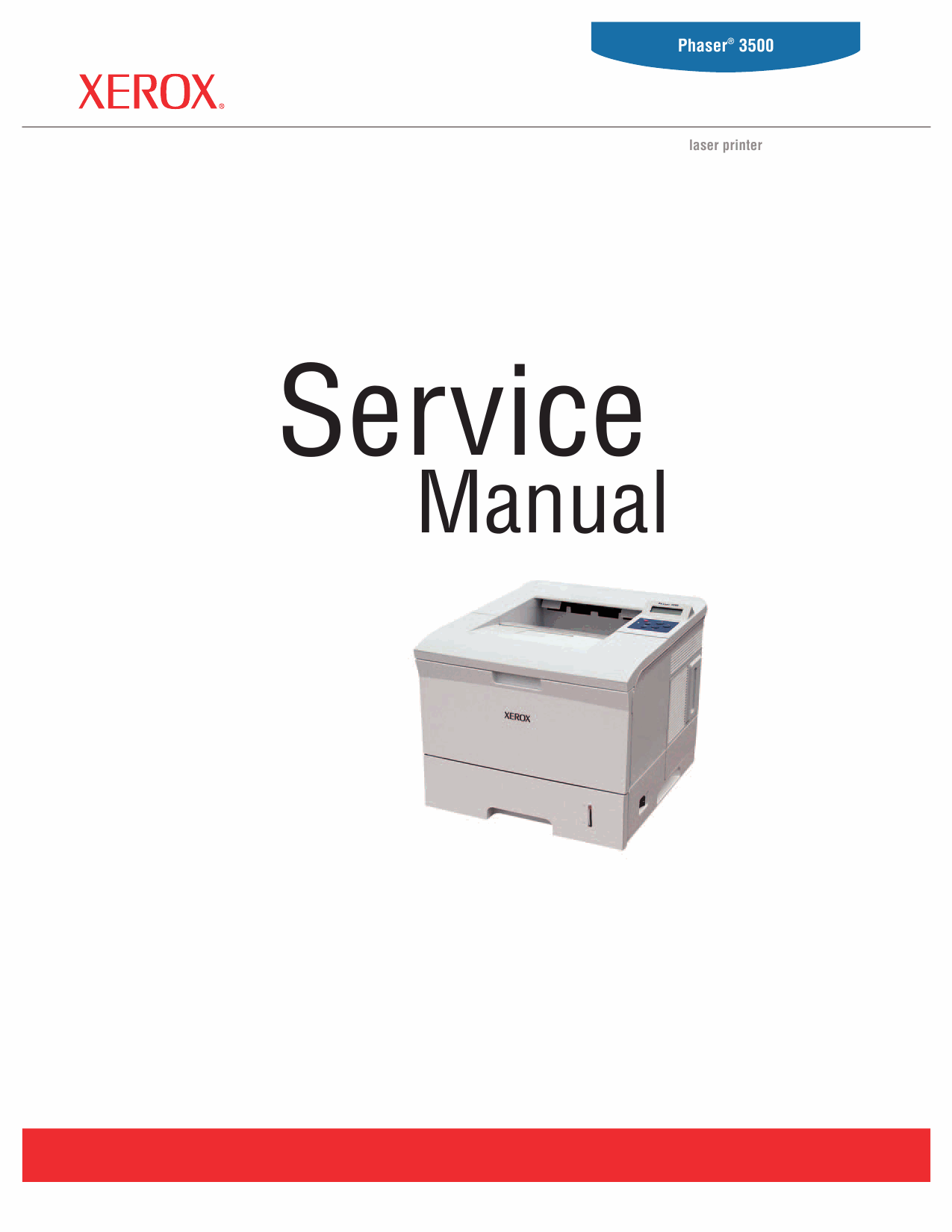 Xerox Phaser 3500 Parts List and Service Manual-1